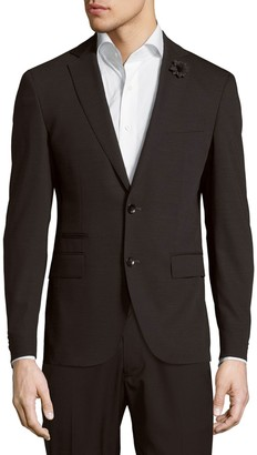 HUGO BOSS Solid Wool-Blend Jacket
