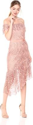 Adelyn Rae Women's Raquel Woven LACE OTS Dress