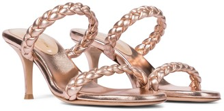 Gianvito Rossi Exclusive to Mytheresa Marley 70 metallic leather sandals