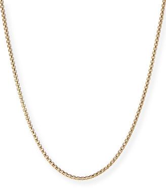 "David Yurman Men's 18k Gold Box Chain Necklace, 22""L"