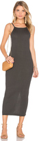 Autumn Cashmere Rib Maxi Dress