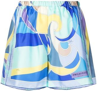 Emilio Pucci Quirimbas-print silk shorts