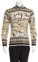 Dolce & Gabbana Map Print Button-Up Shirt