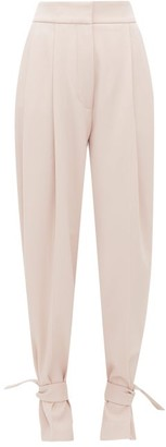 Petar Petrov Heram High-rise Pleated Wool Trousers - Pink