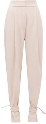 Petar Petrov Heram High-rise Pleated Wool Trousers - Womens - Pink