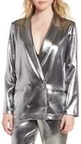 Topshop Metallic Suit Jacket