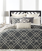 Hotel Collection Modern Airbrush Geo King Duvet Cover