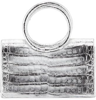Nancy Gonzalez Crocodile Circle Handle Clutch Bag