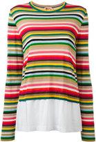 No.21 striped jumper - women - Cotton/Polyamide/Polyester/Viscose - 36
