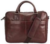 John Lewis Gladstone 15.4 Laptop Leather Briefcase, Antique Tan