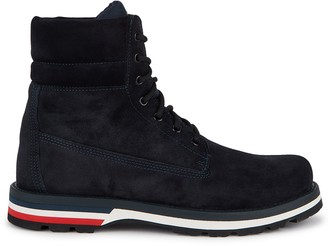Moncler Vancouver Navy Suede Hiking Boots