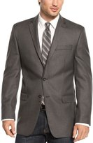Calvin Klein Mens Herringbone Slim Fit Two-Button Suit Jacket 40R