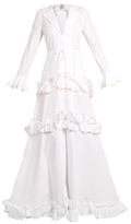 Rosie Assoulin Twisted-ruffle cotton gown