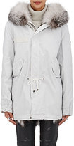Mr and Mrs Italy Women's Fur-Trimmed & Fur-Lined Midi-Parka-WHITE