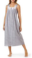 Eileen West Lace-Trimmed Floral Chambray Ballet Nightgown