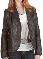Scully Contrast Stitch Plonge Jacket (For Women)