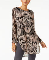 Alfani Printed Side-Slit Tunic, Created for Macy's
