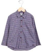 Bonpoint Boys' Plaid Collared Shirt
