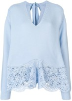 Stella McCartney crochet lace sweater