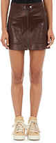Helmut Lang Women's Leather Miniskirt-BROWN