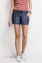 "Classic Women's Petite Not-Too-Low 4"" Tencel Shorts-Warm Cinnabar"