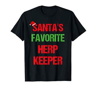 Herp Keeper Funny Pajama Christmas Gift T-Shirt