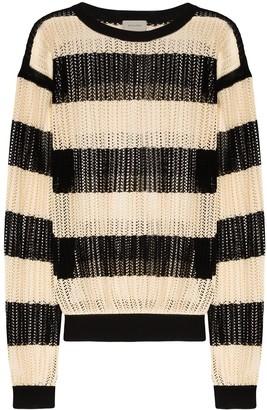 Bed J.W. Ford Striped Open-Knit Jumper