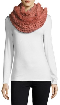 La Fiorentina Knit Fur Infinity Scarf