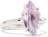 Alexis Bittar Silver-tone crystal ring