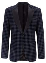 Boss Slim-fit dinner jacket with houndstooth check