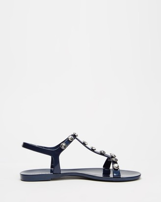 Holster Women's Navy Flat Sandals - Eve - Size One Size, 10 at The Iconic