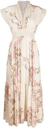 Giambattista Valli Floral-Print Silk Dress