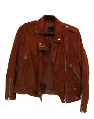 AllSaints Brown Suede Jacket for Women
