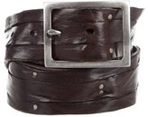 John Varvatos Distressed Leather Belt