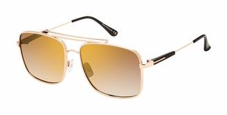 Rocawear Men's R1513 Metal Aviator Sunglasses with 100% UV Protection 60 mm