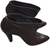 Balenciaga Burgundy Leather Ankle boots