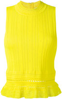 3.1 Phillip Lim sleeveless lace top - women - Nylon/Polyester/Spandex/Elastane/Viscose - S