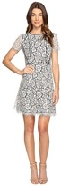 Jessica Simpson Two-Tone Floral Lace Fit and Flare