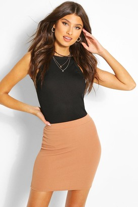 boohoo Basic Pastel Crepe Micro Mini Skirt