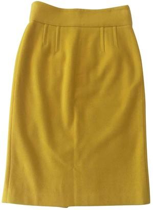 Alexander McQueen Yellow Cashmere Skirts