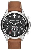 MICHAEL Michael Kors Michael Kors 'Gage' Chronograph Leather Strap Watch, 45mm
