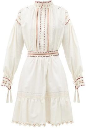 Etro Embroidered Cotton Dress - White