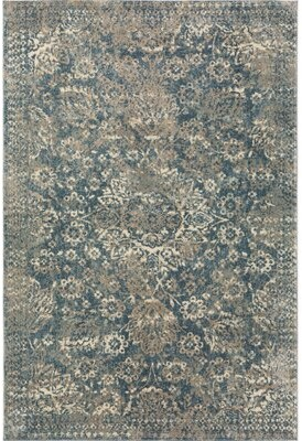 "Dakota Fields Naples Blue/Ivory Rug Rug Size: Rectangle 3'3"" x 5'1"""