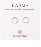 Dogeared Smooth Karma Stud Earrings