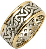 Fado Ladies Silver and 14k Two Tone Celtic Knot Wedding Ring Size 5.5