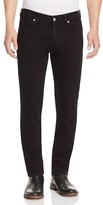 7 For All Mankind Slimmy Straight Leg Jeans in Black