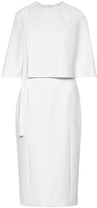 Oscar de la Renta Wool-crApe midi dress