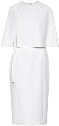 Oscar de la Renta Wool-crepe midi dress