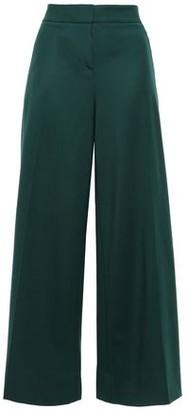 Oscar de la Renta Stretch Wool-twill Wide-leg Pants