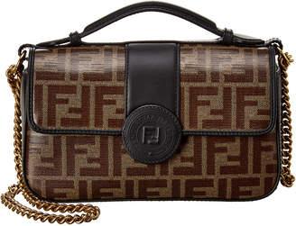 Fendi Ff Small Leather Shoulder Bag